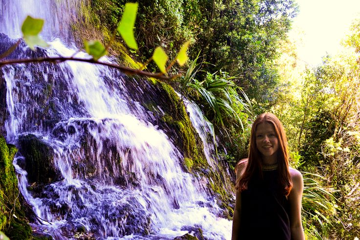 Chantal from the Netherlands enjoying some of New Zealand's beautiful nature
