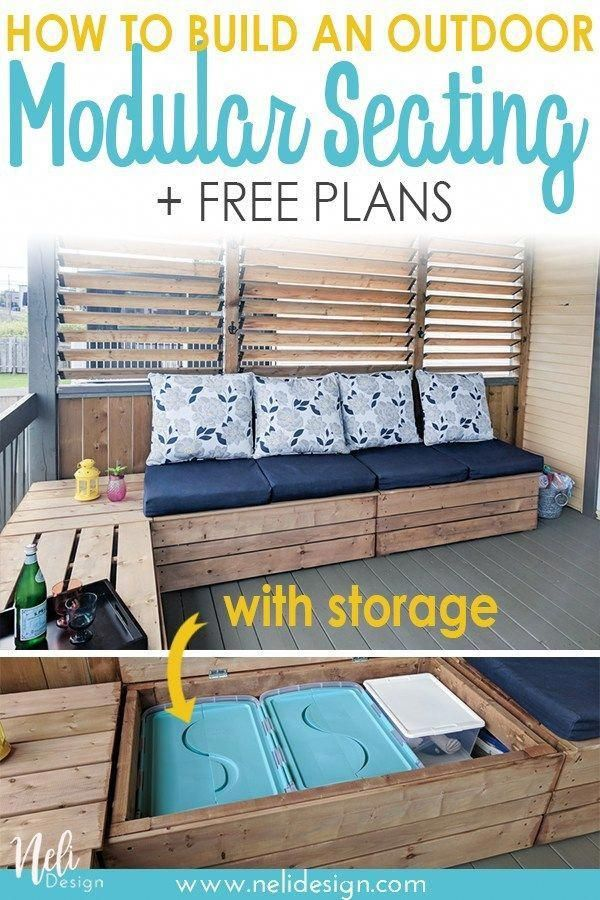 Diy Outdoor Modular Bench With Storage Cheap Patio Furniture Patio Furniture Cushions Outdoor Furniture Cushions