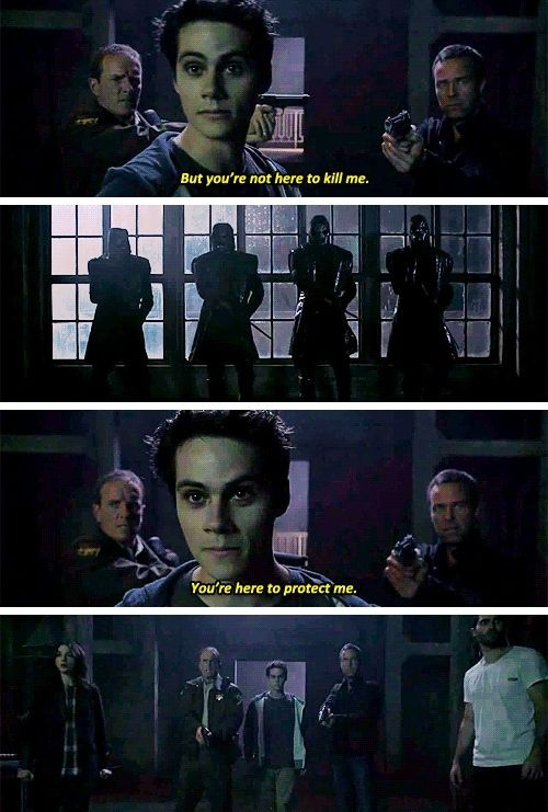 I just find it so sad that the nogitsune knows them all so well that he can manipulate them into protecting it because it is in Stiles's body and also really sweet because they just all switch from threatening him to protecting him in the space of a second because they care so much about him.
