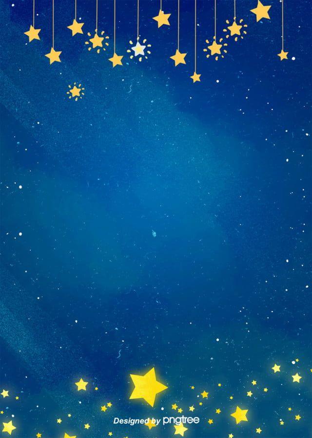 Pintado A Mano De Dibujos Animados Luminoso De Cinco Estrellas Encantador Fondo Decorativo Fondos Para Bebes Fondo De Pantalla Brillante Para Iphone Imagenes De Fondo