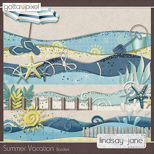 Summer Vacation Borders :: Gotta Pixel Digital Scrapbook Store