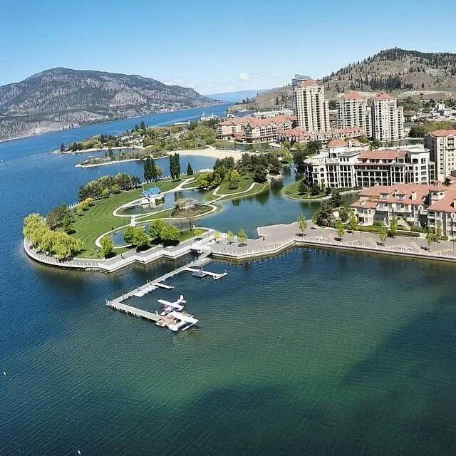 I run along this promenade, along the lake, every morning.  Kelowna, British Columbia