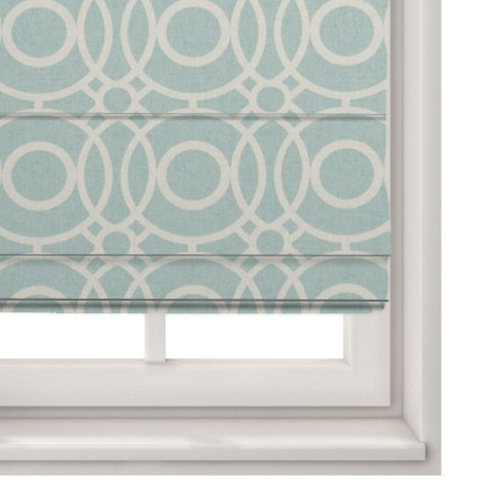 Roman Blind Eclipse Aqua - Made To Measure Roman Blinds Clarke And Clarke - Made to Measure Roman Blind in Eclipse Aqua.Part of the Folia Collection by Clarke And Clarke. These modern roman