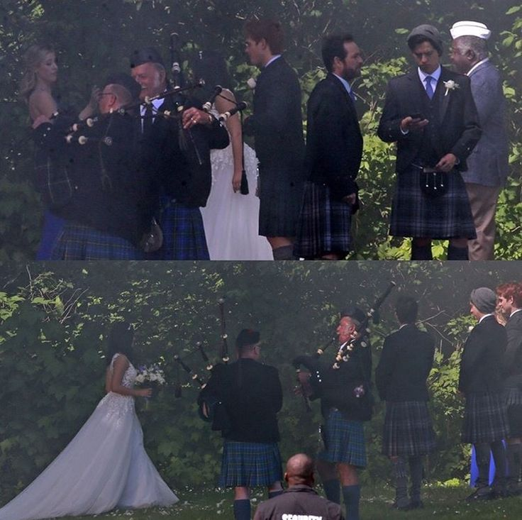 What's going on here? Who's wedding is this? Why're they wearing kilts? So many questions