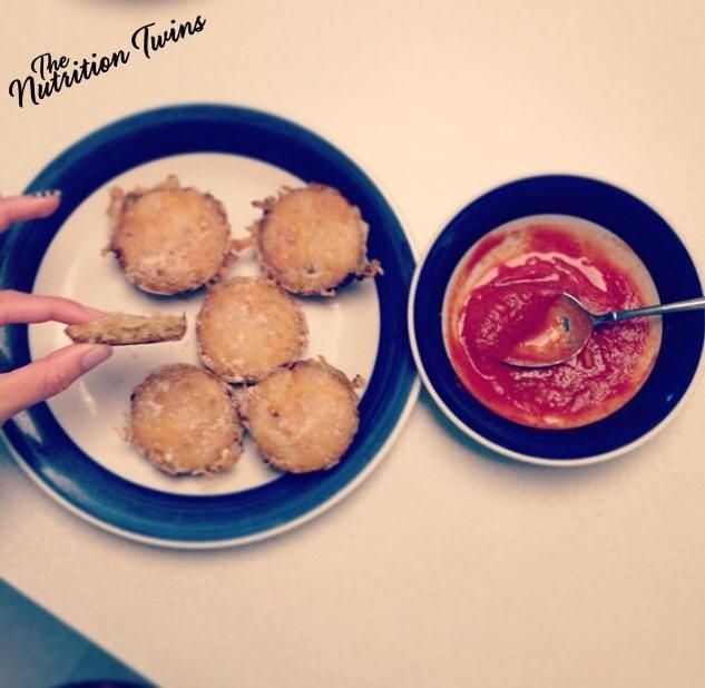 """Quinoa Pizza Bites   Only 170 Calories for Guilt-free Protein-Packed """"Pizza""""   Scrumptious, Easy To Make Quinoa   For MORE RECIPES please SIGN UP for our FREE NEWSLETTER www.NutritionTwins.com"""