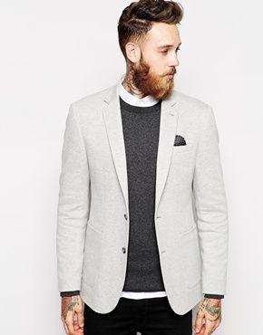 ASOS – Eng geschnittener Blazer aus Jersey