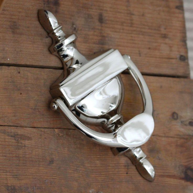 76 polished nickel urn door knocker hall pinterest - Door knocker nickel ...