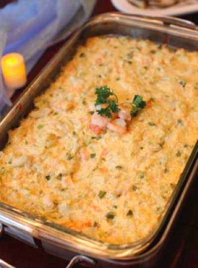 Hot Seafood Dip | Great to serve at your football party or a fall gathering!