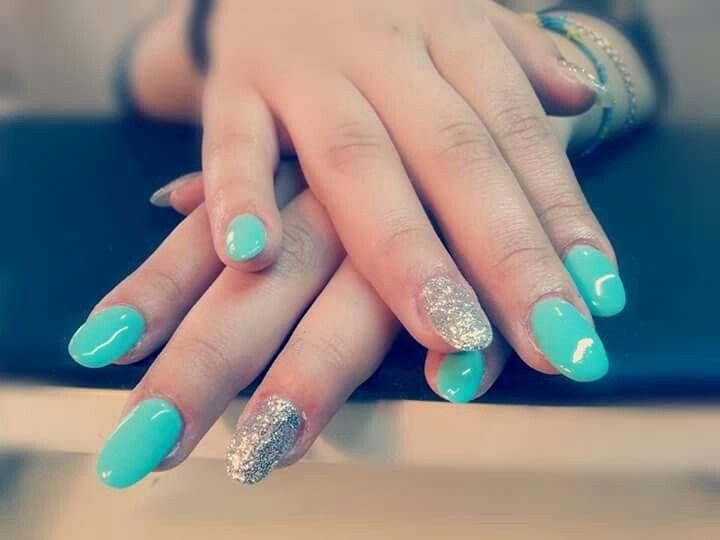 #argento#tiffany#turchese#nails#unghie#tonde#fixelnailslaboratory