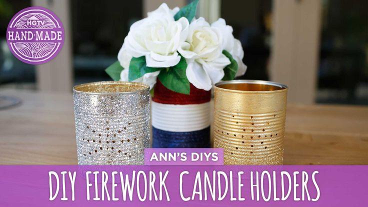 DIY Firework Candle Holders - HGTV Handmade
