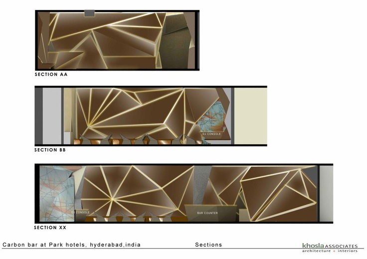 Carbon Bar By Khosla Associates The Map Of Sections In Park Hotel Hyderabad India
