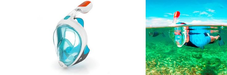 EASYBREATH snorkeling mask | Tribord I would really like to try one of these. I think I could actually enjoy snorkeling.