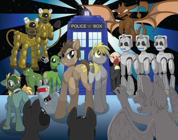 Doctor Whooves Dr Who My Little Pony Friendship is by charity2, on Etsy
