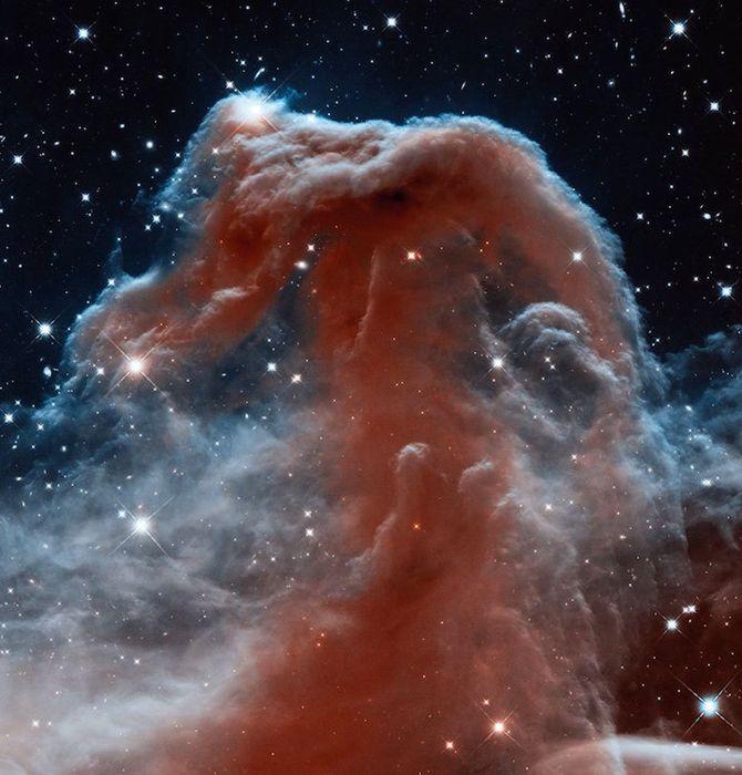 Позиция: 05h 40m, –02°, 27', расстояние от Земли: 1,600 св. лет; прибор/год: WFC3/IR, 2012.