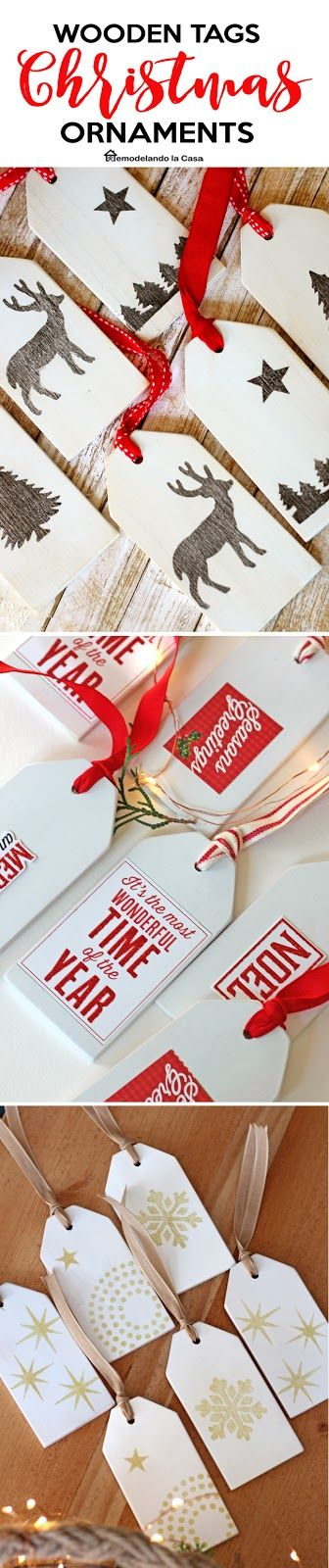 Get a bunch of this economical wooden tag Christmas ornaments to hang on the tree, fill stockings, or decorate your presents!