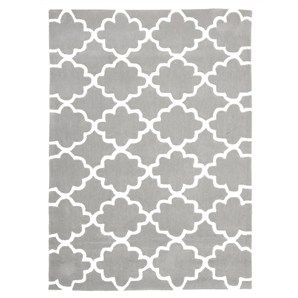 Trellis Design Kid Rug in Grey - 220x150cm  LS1050C