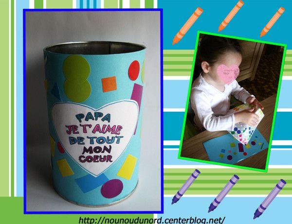 Pot à crayon pour la fête des pères http://nounoudunord.centerblog.net/2056-pot-a-crayon-pour-la-fete-des-peres