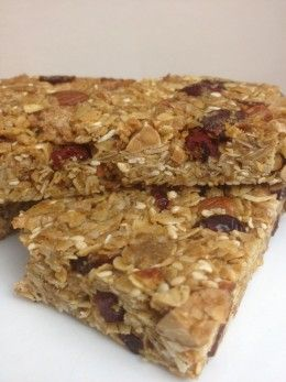Homemade Healthy Granola Bars - I added 1/2 cup peanut butter powder and 5 tablespoons mini chocolate chips. These are delicious, but they crumble a little too much. - MF