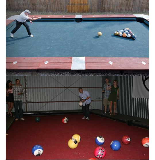 Huge Backyard Pool Table :  Tables, Pool Tables, Bowls Ball, Outdoor Pools, Size Pools, Bowling