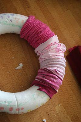 krans met oude sokken