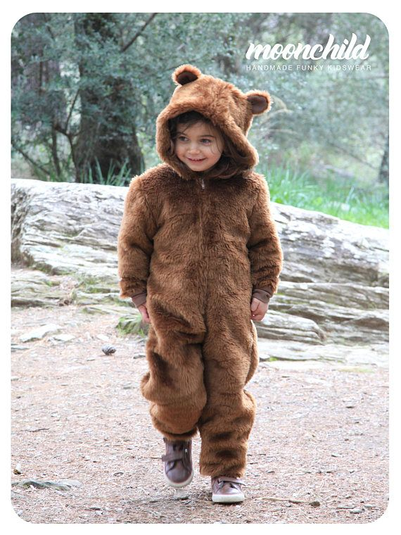 Moonchild Kidswear *********************** Bear Costume//Hooded Romper//Halloween kids//Kids costume//Toddler costume//Fancy dress costume//Handmade//Gift for Kids//Brown  Unisex Bear outfit for little people with a funky mind. 😎 💕 Very comfortable in use, pleasant shape for