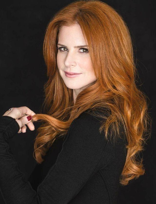 Sarah Rafferty of Suits. Emmy magazine layout. 2014