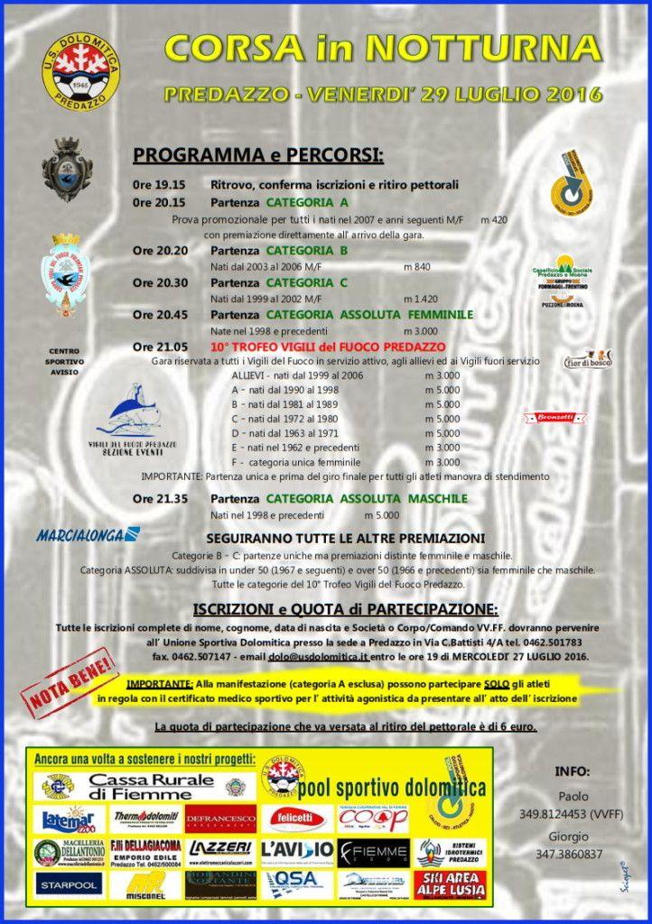 corsa notturna predazzo programma 2016 722x1024 Corsa Notturna 2016 a Predazzo