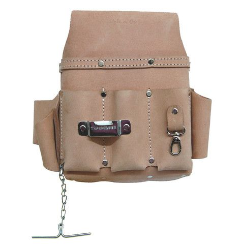 94603 - 10 Pocket Electrician's Tool Pouch in Heavy Top Grain Leather – Style n Craft