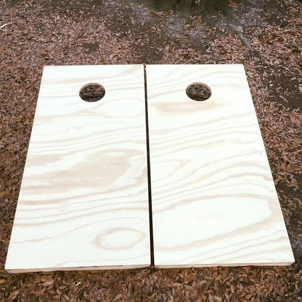 Plain Cornhole Set With Bean Bags – Cornhole By Blake