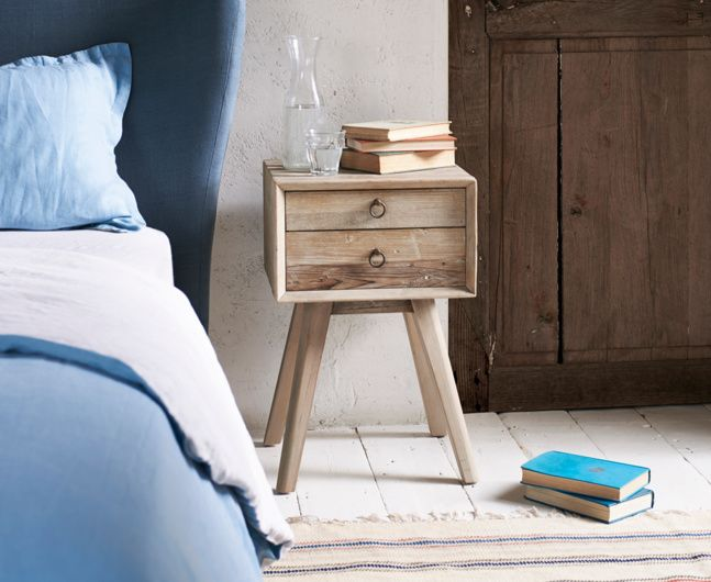 Monocle wooden bedside table