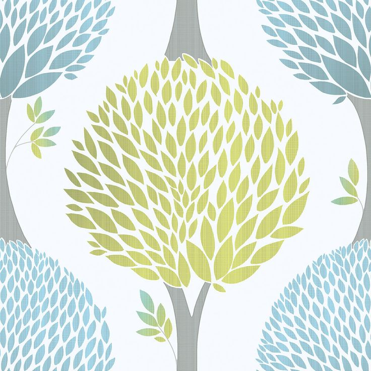 Tempo Tree Lime Green wallpaper by Galerie