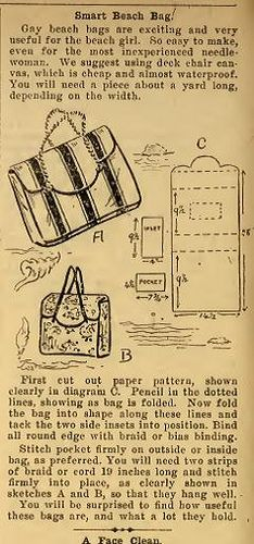 1949 beach bag | From the Australian Home Journal. | Shay | Flickr