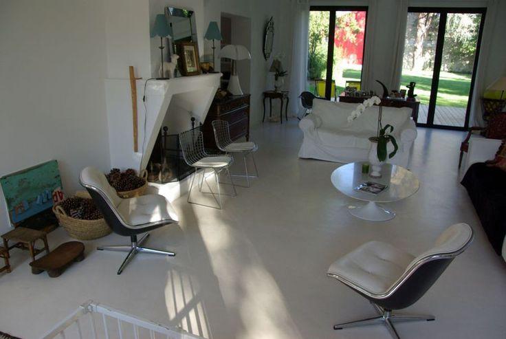 Bodenbelag für Wohnzimmer weiß