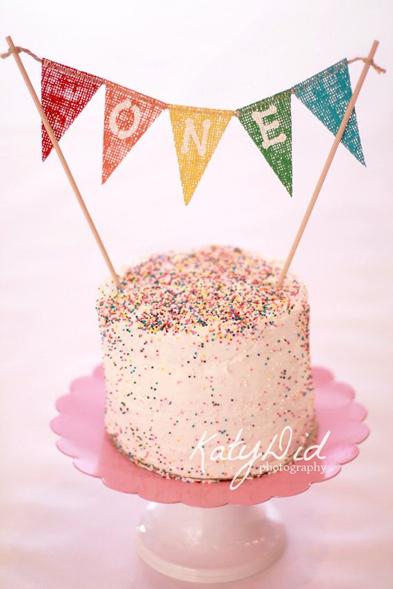 Rainbow Cake Smash Cake Topper / Photography Prop by nhayesdesigns, $13.50