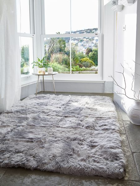 LuxuriousXL Sheepskin Rug-Lt Grey #nordichouse #sheepskin