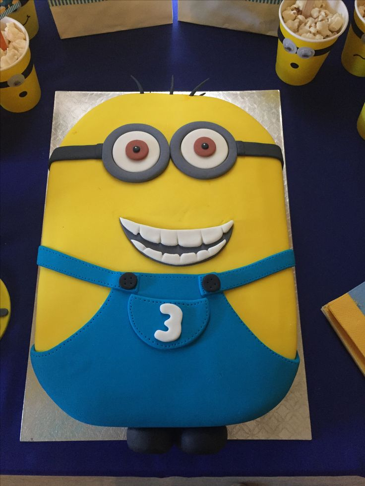 Minion cake for little Jack - Done by Stikki Toffi Parti