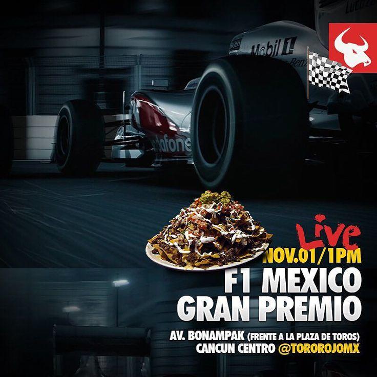 Si eres fanático de la F1 y no pudiste viajar a la Ciudad de México para ver el Gran Premio de México te esperamos éste domingo 1 de noviembre para ver la carrera EN VIVO desde la 1pm  Tendremos 3 promociones: Costillias BBQ Alitas de Pollo y Jarras GRATIS al ordenar los famosos #SuperNachos con arrachera.  #f1 #Mexico #GPMexico #cars #car #ride #drive #driver #sportscar #highway #sportscars #exotic #exoticcar #exoticcars #speed #tire #tires #race #racing #wheel #wheels #rim #rims #engine…