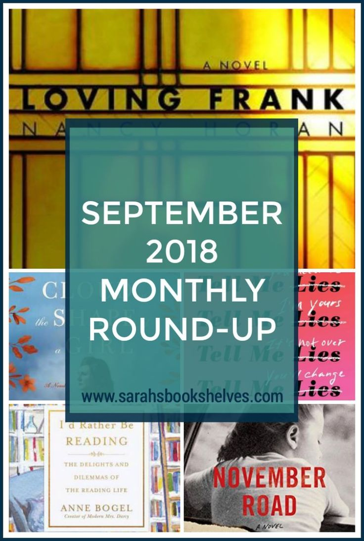 September 2018 Monthly Round Up Book Lists Pinterest Books