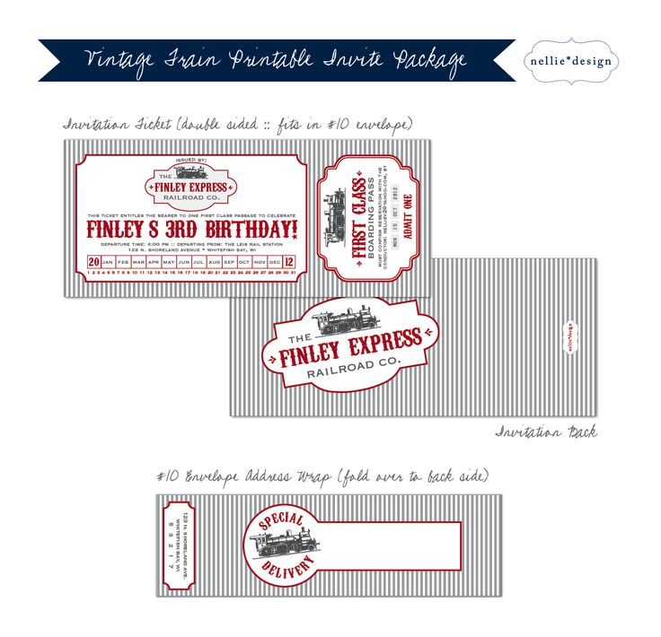 train ticket template printable - Minimfagency