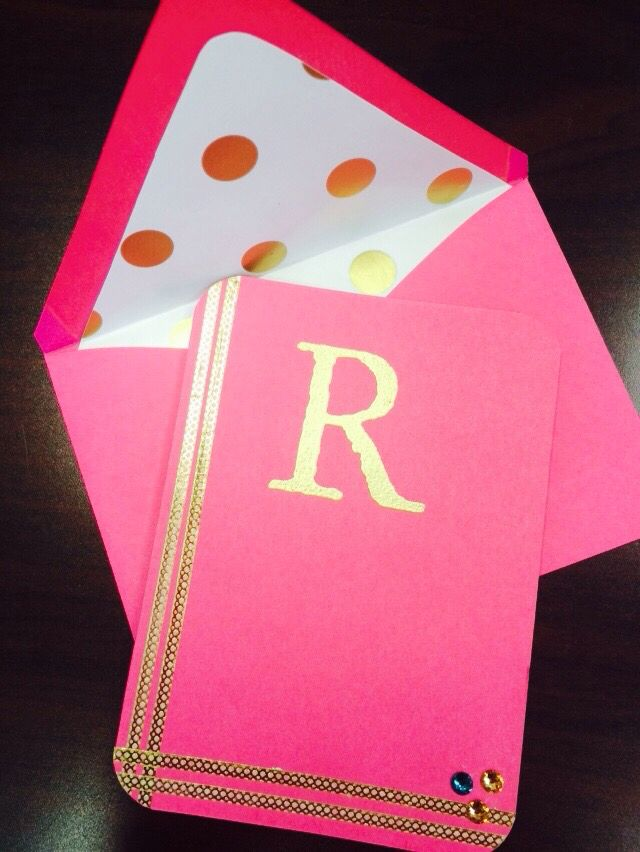 Monogrammed note cards!