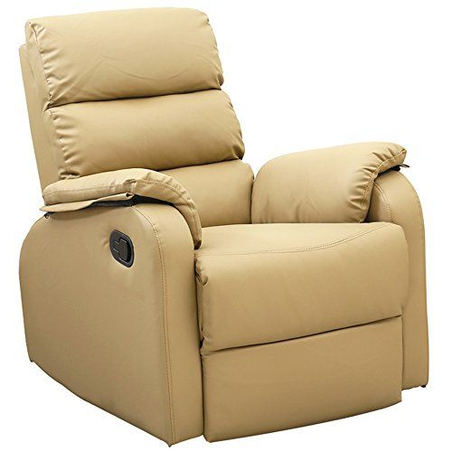 Dland Home Theater Seating Recliner Chair Compact Manual Leather Reclining Sofa Living Room Chairs, Light Brown 8032 #Dland #Home #Theater #Seating #Recliner #Chair #Compact #Manual #Leather #Reclining #Sofa #Living #Room #Chairs, #Light #Brown