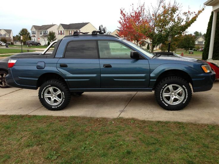"2006 Subaru Baja Sport - 4"" lift with 29"" Goodrich Mud TA KM2 235/70-16 tires"