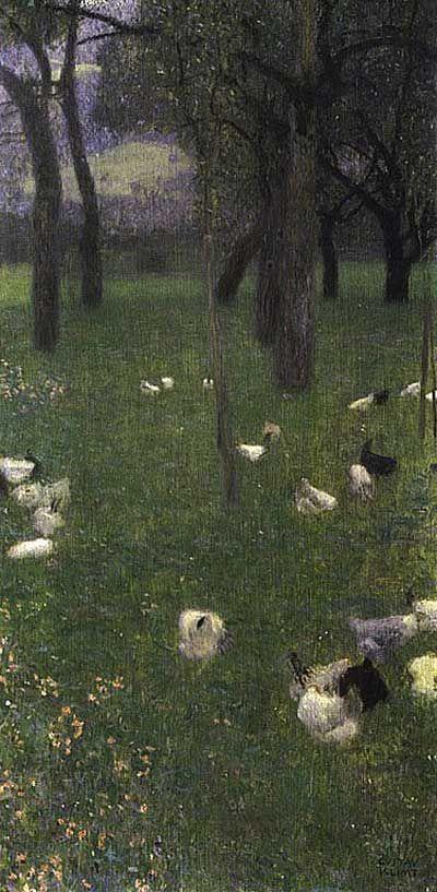 Gustav Klimt >> Après la pluie  |  (huile, reproduction, copie, tableau, oeuvre, peinture).