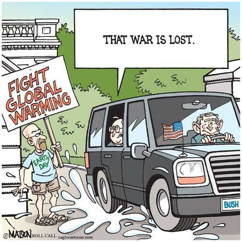 Environment Cartoons: The Global Warming War