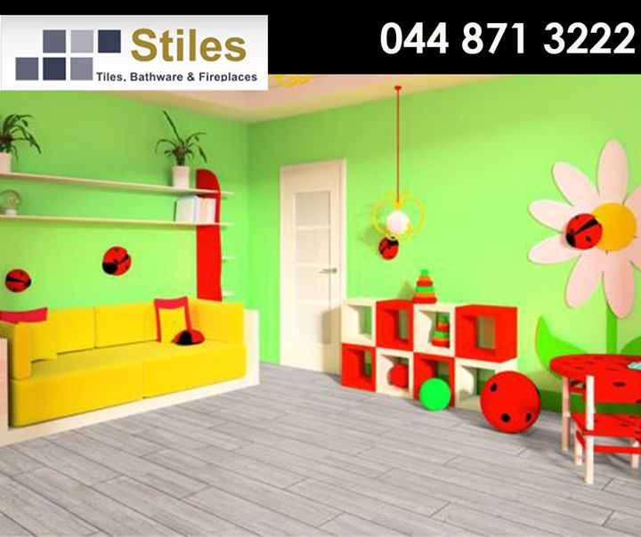 Check out how the #Kronotex flooring is the perfect complement to this colourful and funky children's room! Visit us at #StilesGeorge for expert advice on the best flooring solution for you or call us on 044 871 3222. #Lifestyle #Flooring