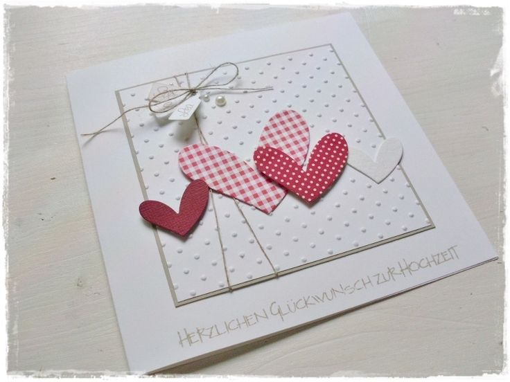 Carolas Bastelstübchen: Hochzeitskarte..♥......
