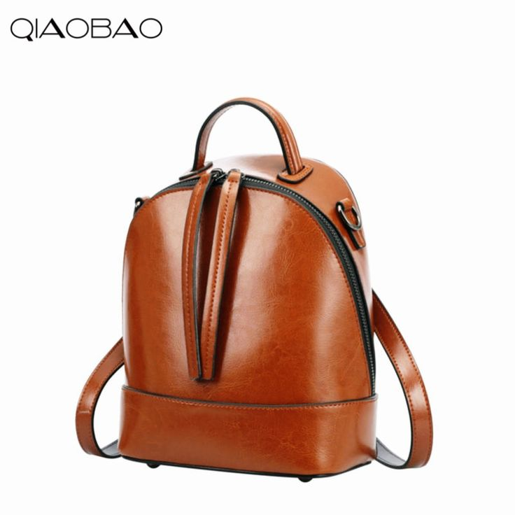 39.03$  Watch here - QIAOBAO 2017 Natural Cowhide Leather Backpack Fashion Bag Mochila Feminina Large Girl Schoolbag Travel Bag Cowhide backpack  #magazine