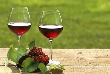 un bicchiere di vino umbro