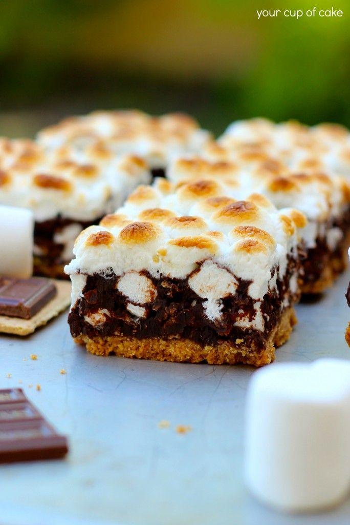 mores Bars (butter, graham crackers, sugar, dark or semi-sweet ...