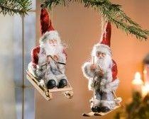 """Deko-Nikolaus """"Wintersport"""", 2er Set im Weihnachten Online Shop bei Frank Flechtwaren"""